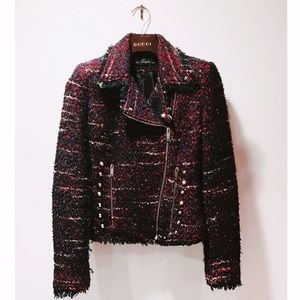 Zara tweed jacket studded